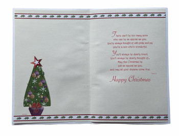 To a Special Son Sweet Sentiments Christmas Card
