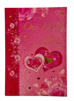 Valentine Wishes To the One I Love Valentine's Day Card
