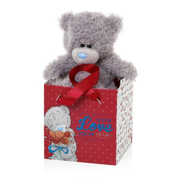 Me to You 5-inch Tatty Teddy Bear and with Love Gift Bag (Grey)