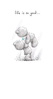 LIFE IS GOOD Cute Me to You Bear Love Couple Whispers Greeting Card