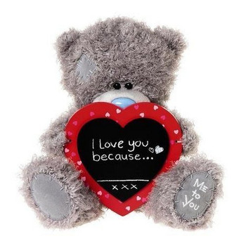 """Me to You 10"""" Valentine's Soft Plush Bear with Chalk Board Message Gift"""