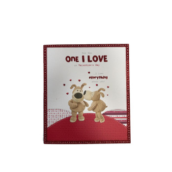 Boofle For the One I Love On Valentine's Day Card