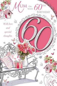 Happy 60th Birthday Mum Fabulous At Sixty Medium Sized Style Birthday Card