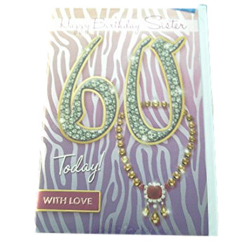 Sister 60 Today! Necklace Design Birthday Card