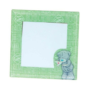 Me To You Small Tatty Teddy Glass Mum Photo Frame, Green