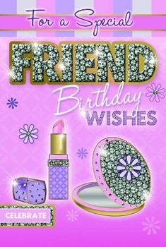 For a Special Friend Make-up Cosmetic Design Birthday Card