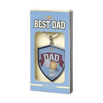 Best Dad Me To You Bear Metal Key Ring