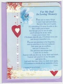 Sentimental Graveside Card - For My Dad In Loving Memory