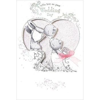 Me To You Bear On Your Wedding Day Handmade Wedding Day Card