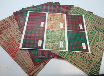 10 Sheet of Mix Designer' Soft touch Foiled Christmas Giftwrap