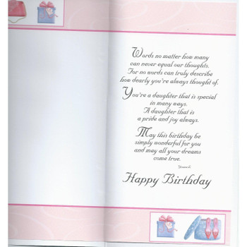 With Love Daughter Purse And Shoes Design Birthday Card