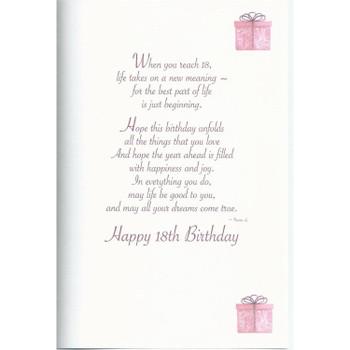 On Your 18th Denim Jeans Design Birthday Card