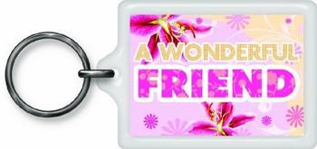 Wonderful Friend Sentimental Keyring