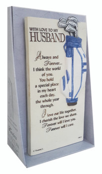 With Love To My Husband Timeless Words Plaque