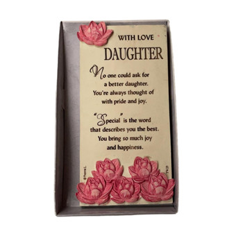 With Love Daughter Timeless Words Plaque