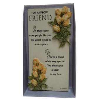 A Special Friend Flower Design Timeless Words Plaque