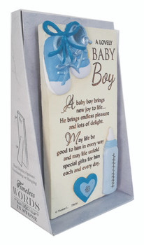 A Lovely Baby Boy Timeless Words Plaque