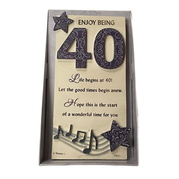 40th Birthday Timeless Words Plaque