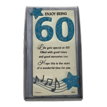 60th Birthday Timeless Words Plaque