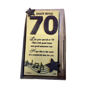 70th Birthday Timeless Words Plaque