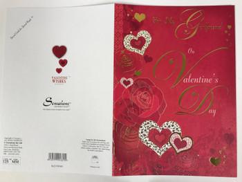 Girlfriend Sentimental Verse Gold Love Heart Valentine's Day Card