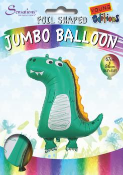 Dinosaur Design Jumbo Foil Balloon