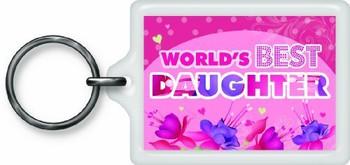 World's Best Daughter Sentimental Keyring
