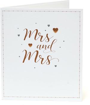 Mrs and Mrs Same Sex Wedding Congratulations Card