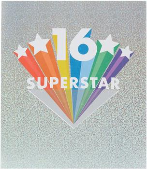 Shiny Stars Foil Design Happy 16th Birthday Card