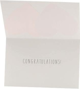 Hearts Design Wedding Day Congratulations Card for Bride & Groom