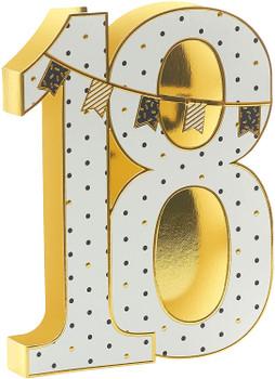 3D Design Open 18th Birthday Card