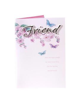 Friend Happy Birthday 3D Handmade Butterflies Card