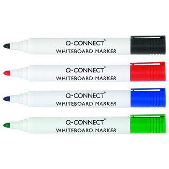 Pack of 4 Assorted Colour Drywipe Whiteboard Marker Pens