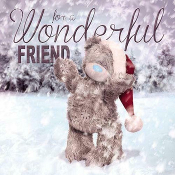 6 x Me to You Bear 3D Holographic Friend Christmas Card
