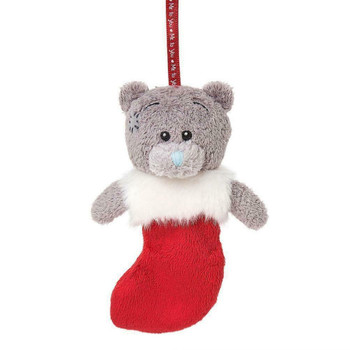 """3"""" Bear In Stocking Me to You Bear Christmas Tree Decoration x 4"""