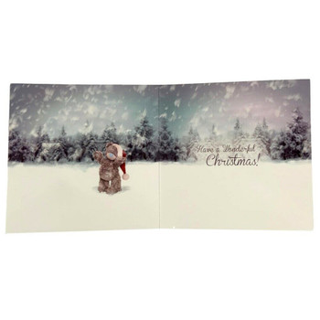 6 x 3D Holographic Let It Snow Me to You Bear Christmas Card