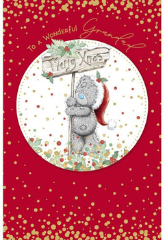Grandad Tatty Teddy Holding Sign Design Christmas Card