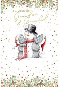 Grandma And Grandad Tatty Teddies Dressing Design Christmas Card