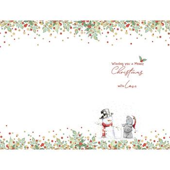 Great Grandson Tatty Teddy With Snowman Design Christmas Card
