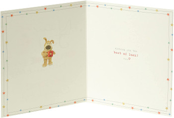 Cute Boofle New Job Well Done Congratulations Card with Gold Foil Details