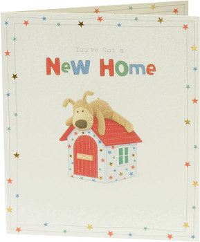 Boofle on Doghouse Design New Home Congratulations Card