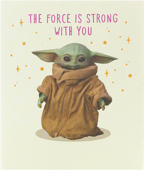 The Child of The Mandalorian Funny Birthday Card