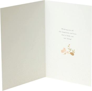 Gold Foil Details New Granddaughter Congratulations Card