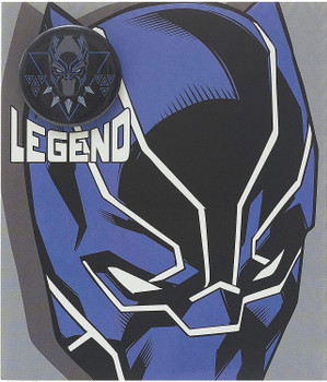 Disney Avengers Panther Blank Boys Birthday Card with Badge