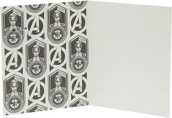 Disney Avengers Captain Marvel Birthday Card with Badge