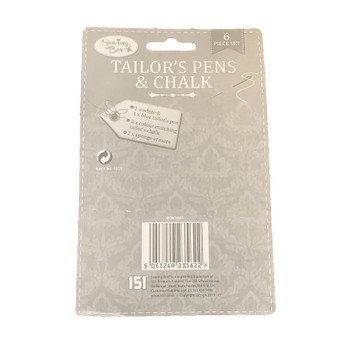 Set of 6 Tailors Pens and Chalk by Sewing Box