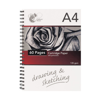 A4 Spiral Sketch Pad - 30 Sheets/60 pages
