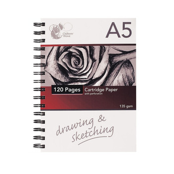 A5 Spiral Sketch Pad 60 Sheets/120 pages