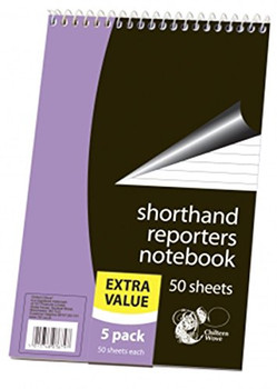 5 Pack Of Shorthand Reporters Notebooks 50 Sheets Per Book Lined School Office