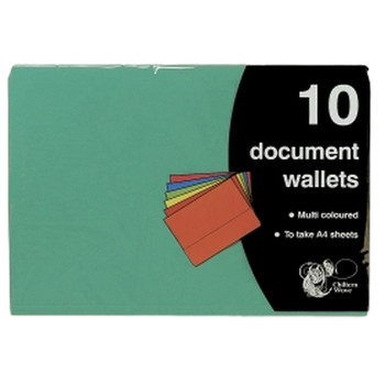 Pack of 10 A4 Document Wallet